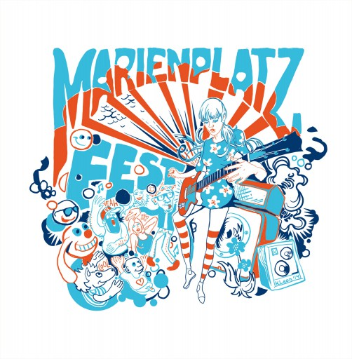 Kleon Medugorac Marienplatz Fest 2014 Shirts and Bags illustration music allgemein