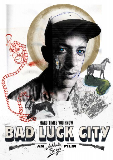 Kleon Medugorac Bad Luck City illustration poster