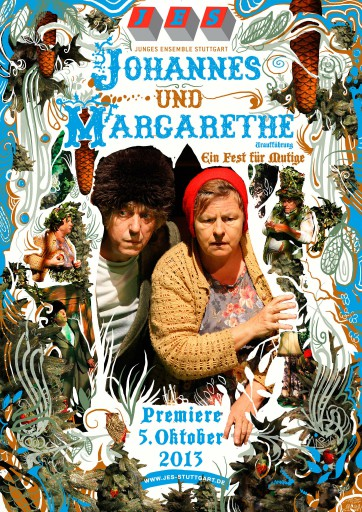 Kleon Medugorac Johannes und Margarethe illustration poster theater