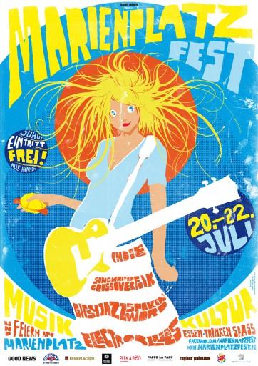 Kleon Medugorac Marienplatz Fest 2012 illustration music poster allgemein