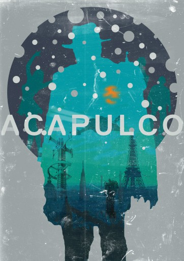 Kleon Medugorac Acapulco illustration poster  2013 Poster / DVD Cover for a science fiction movie project.