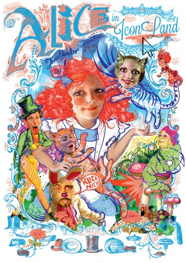Kleon Medugorac Alice im Iconland illustration music poster theater