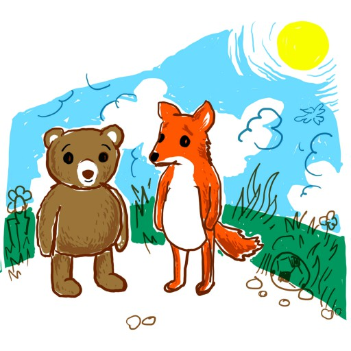 Kleon Medugorac Bär und Fuchs free-work illustration