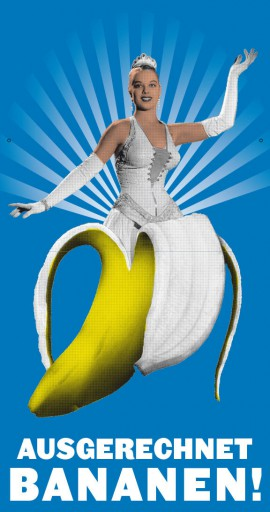 Kleon Medugorac Ausgerechnet Bananen! flyer illustration poster theater allgemein