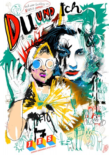 Kleon Medugorac Du und Ich illustration portrait poster theater