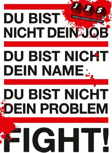 Kleon Medugorac Fight! 2012 poster for JES Stuttgart.