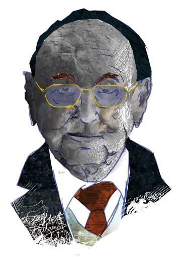 Kleon Medugorac Hans-Dietrich Genscher Porträit illustration magazine portrait allgemein