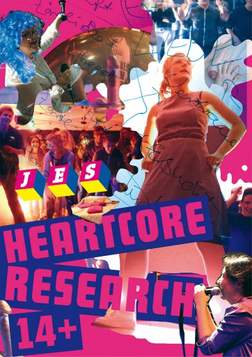Kleon Medugorac Heartcore Research 14+ flyer illustration poster theater
