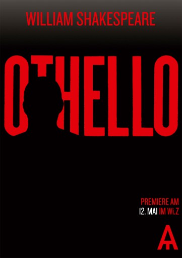 Kleon Medugorac Othello illustration poster theater typography allgemein