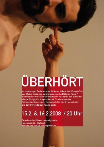 Kleon Medugorac Überhört poster typography