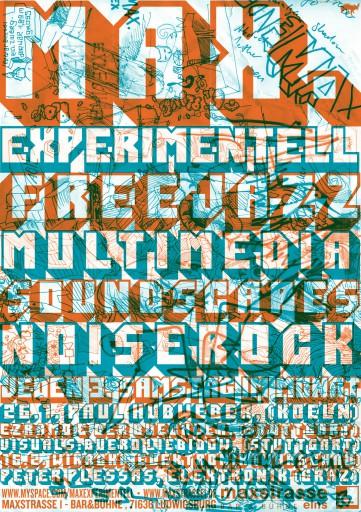 Kleon Medugorac Max Experimentell music poster typography allgemein