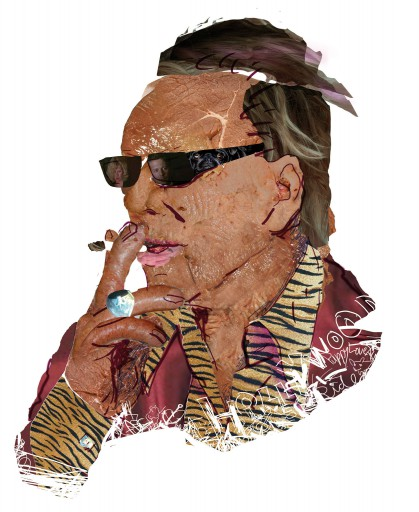 Kleon Medugorac Mickey Rourke Porträit illustration magazine portrait allgemein