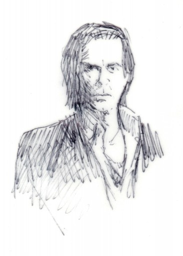 Kleon Medugorac Nick Cave illustration music portrait theater allgemein