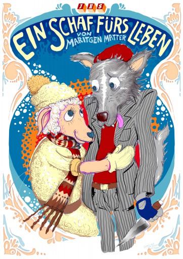 Kleon Medugorac Ein Schaf fürs Leben illustration poster theater