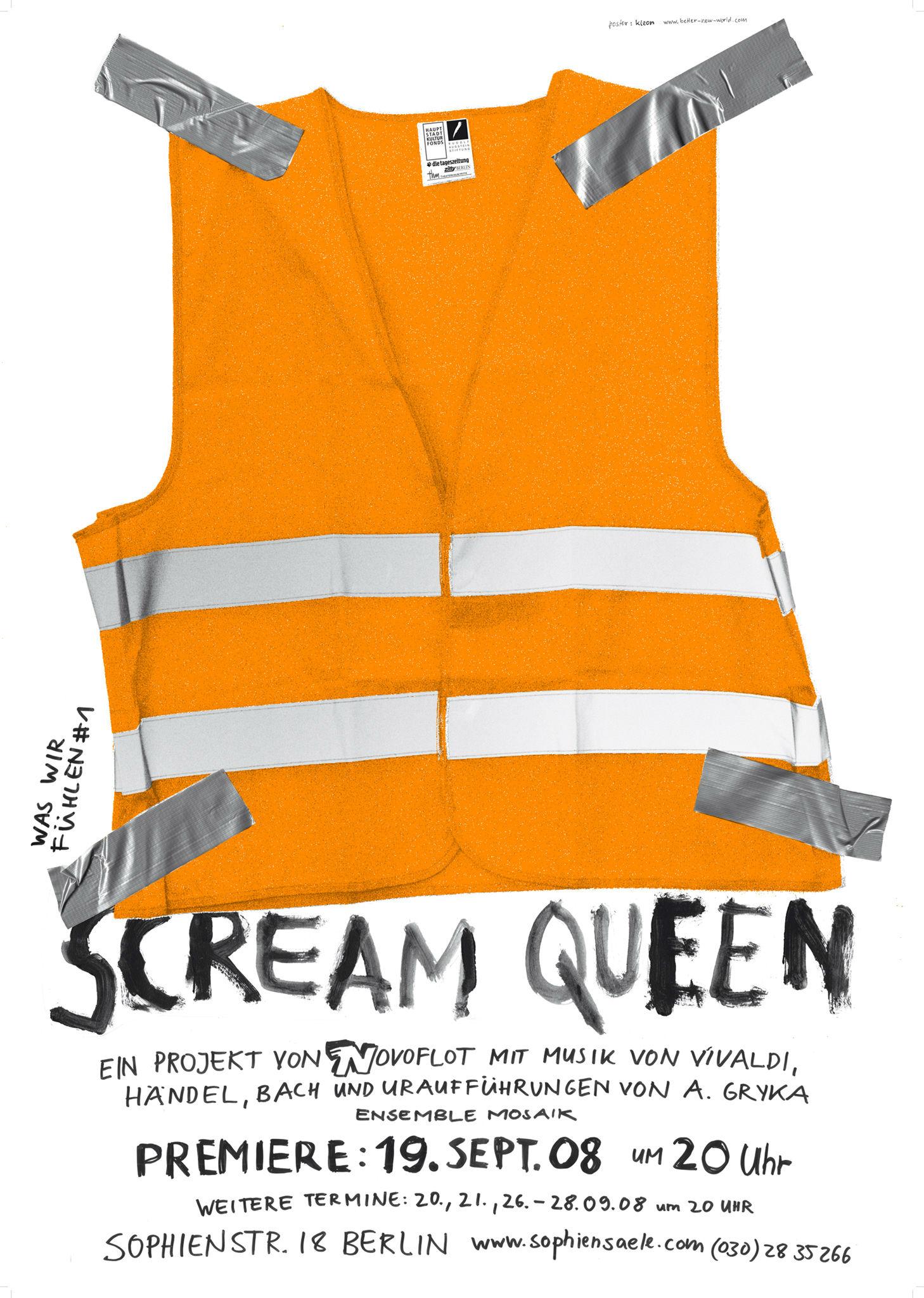 Kleon Medugorac Scream Queen 2007 poster for novoflot.
