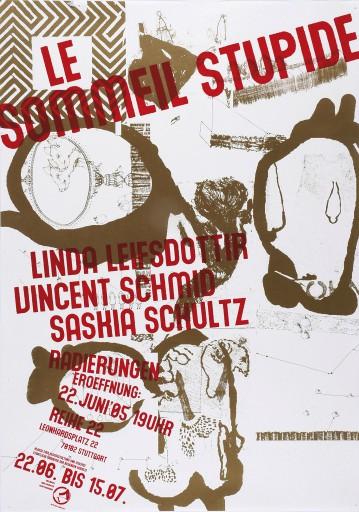 Kleon Medugorac Sommeil Stupide poster typography allgemein