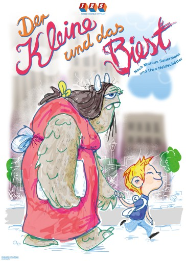 Kleon Medugorac Der Kleine und das Biest flyer illustration poster theater
