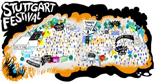 Kleon Medugorac Stuttgart Festival Map illustration music