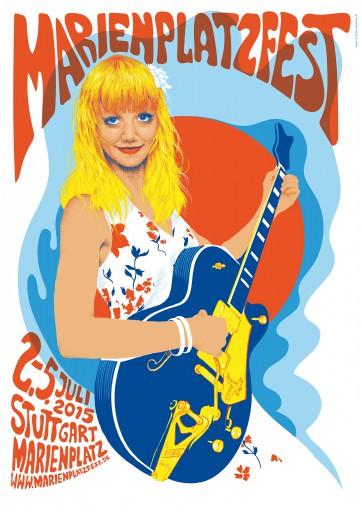Kleon Medugorac Marienplatz Fest Poster 2015 illustration music portrait poster typography allgemein