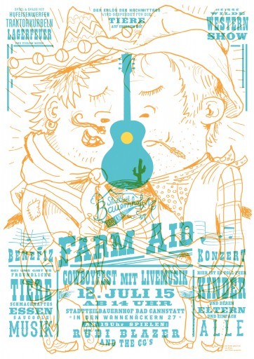 Kleon Medugorac Farm Aid Poster illustration music poster typography