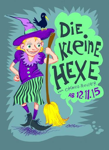 Kleon Medugorac Die Kleine Hexe illustration poster theater allgemein