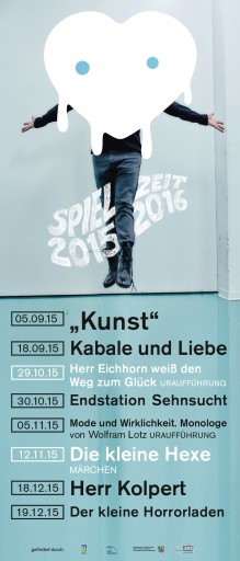Kleon Medugorac Spielzeit 2015/16 Theater Paderborn corporate poster theater typography allgemein