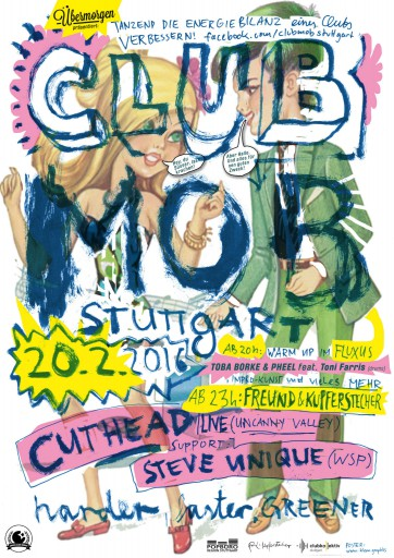 Kleon Medugorac Clubmob Poster flyer illustration poster typography