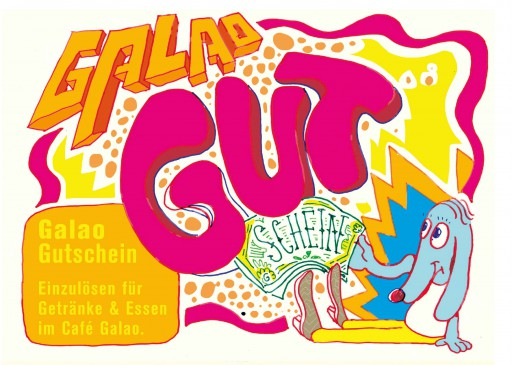 Kleon Medugorac Café Galao Gutschein flyer illustration typography