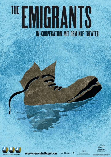 Kleon Medugorac The Emigrants – Poster flyer illustration poster theater