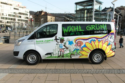 Kleon Medugorac Grüne Jugend Wahlkampfbus