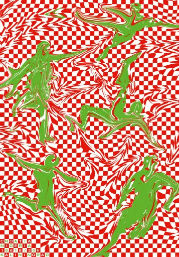 "Kleon Medugorac Poster for Tschuttiheftli ""Croatia vs Nigeria"" illustration poster"