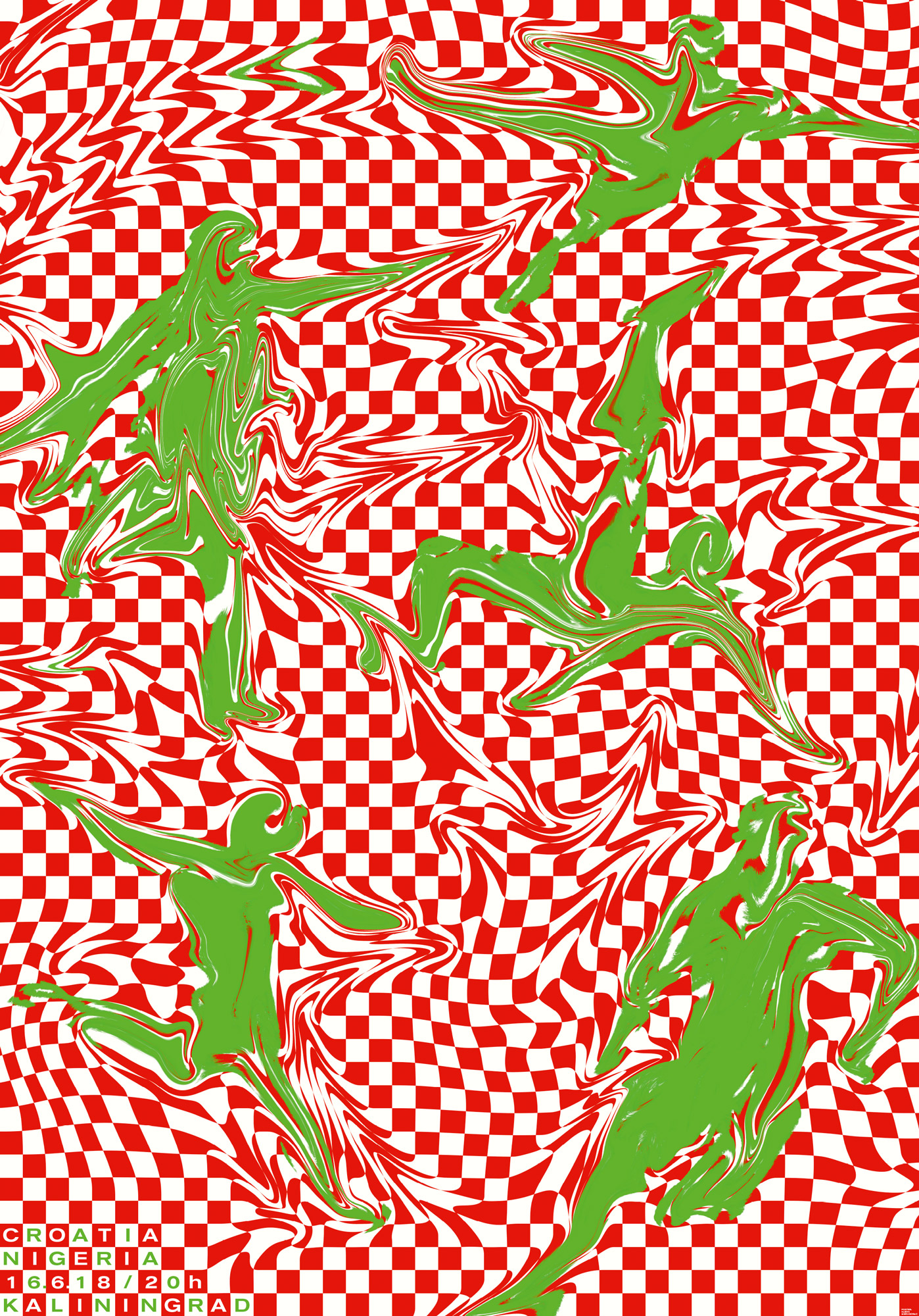 "Kleon Medugorac Poster for Tschuttiheftli ""Croatia vs Nigeria"""